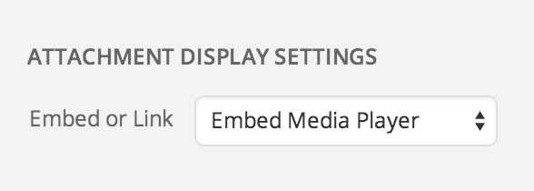 Media Display Settings