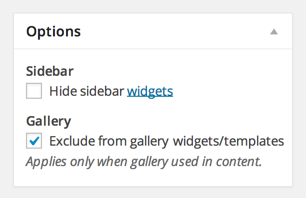 Exclude Gallery Option