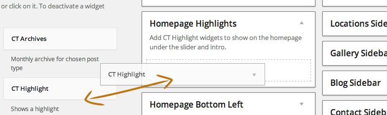 Highlight Widget Drag