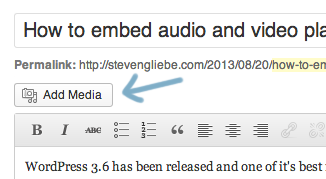 How to embed audio and video players in WordPress