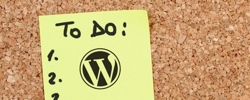 WordPress Site To Do List