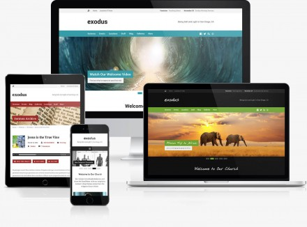 Exodus Church WordPress Theme