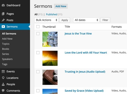 Church Content WordPress Plugin