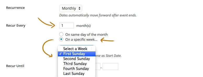 Custom Recurring Events Add-on