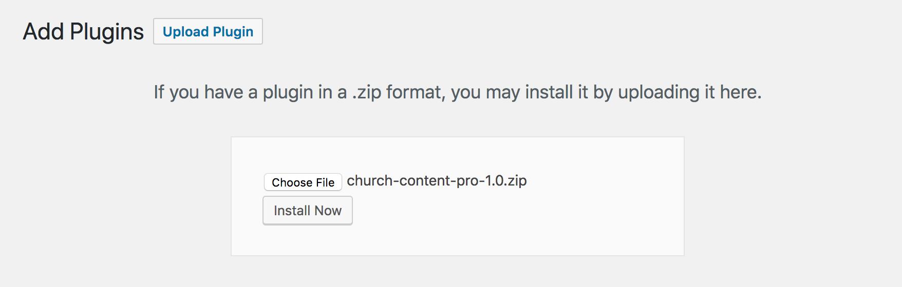 Install Church Content Pro