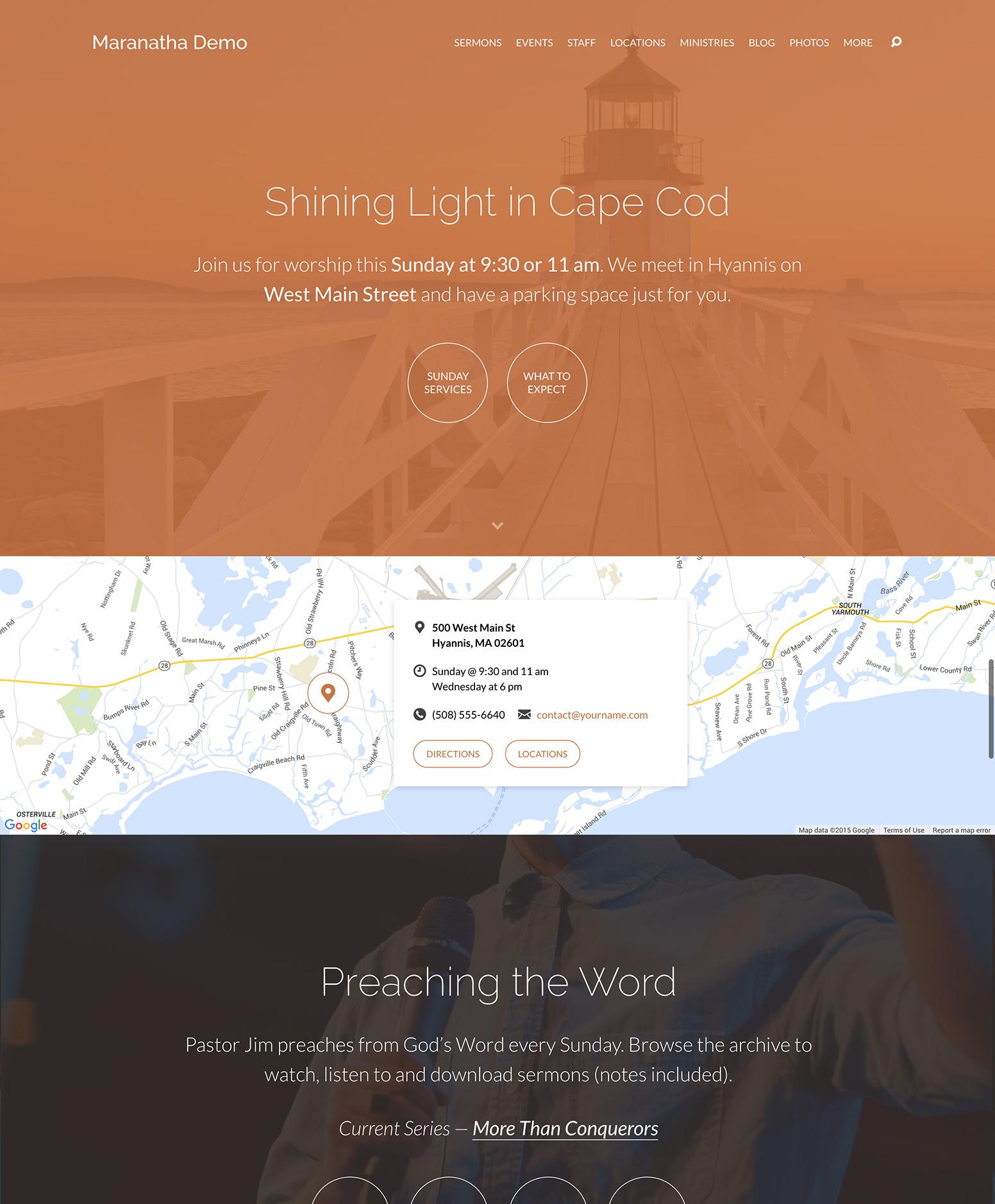 Maranatha Theme Homepage