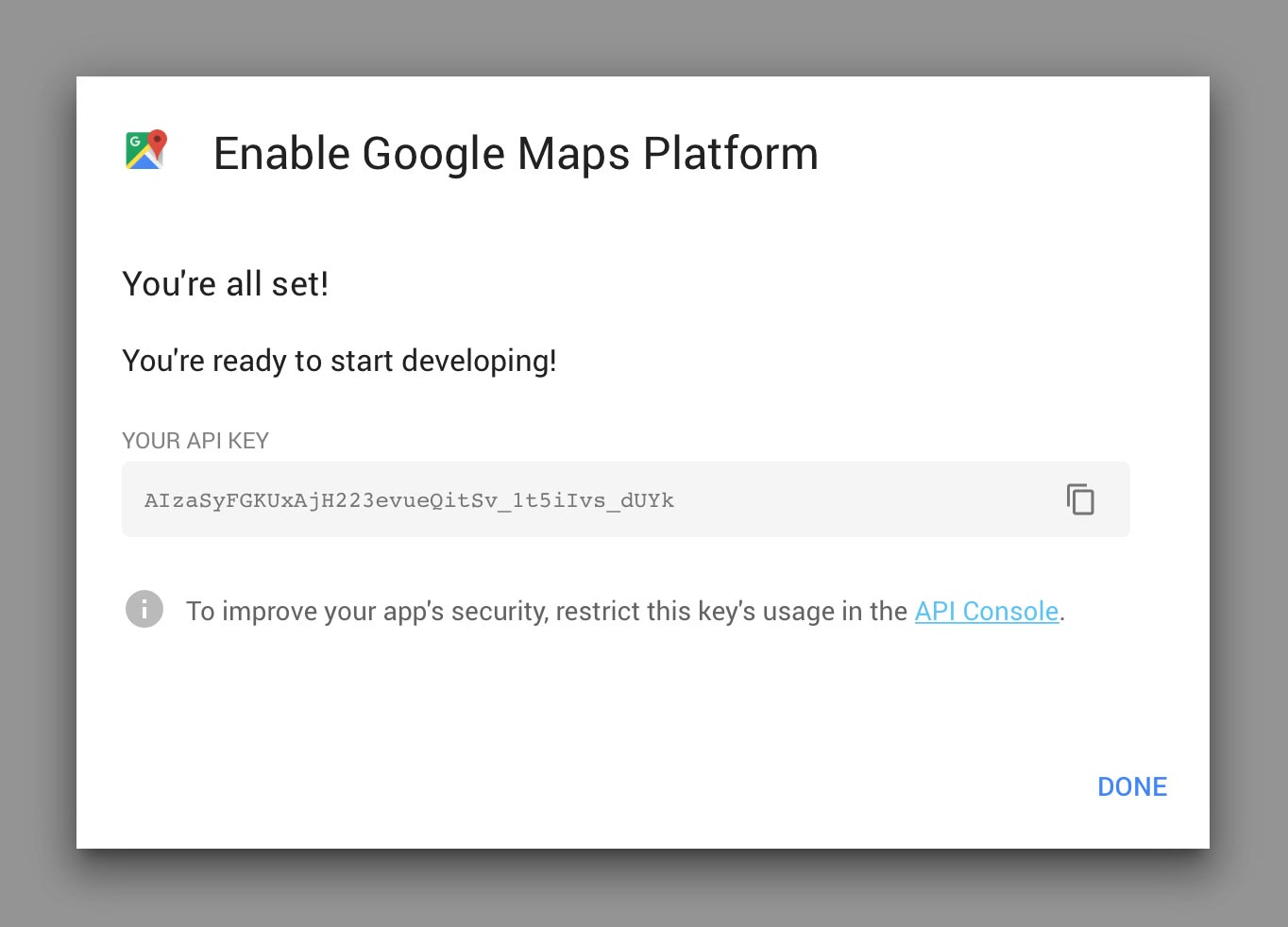 Google Maps API Done