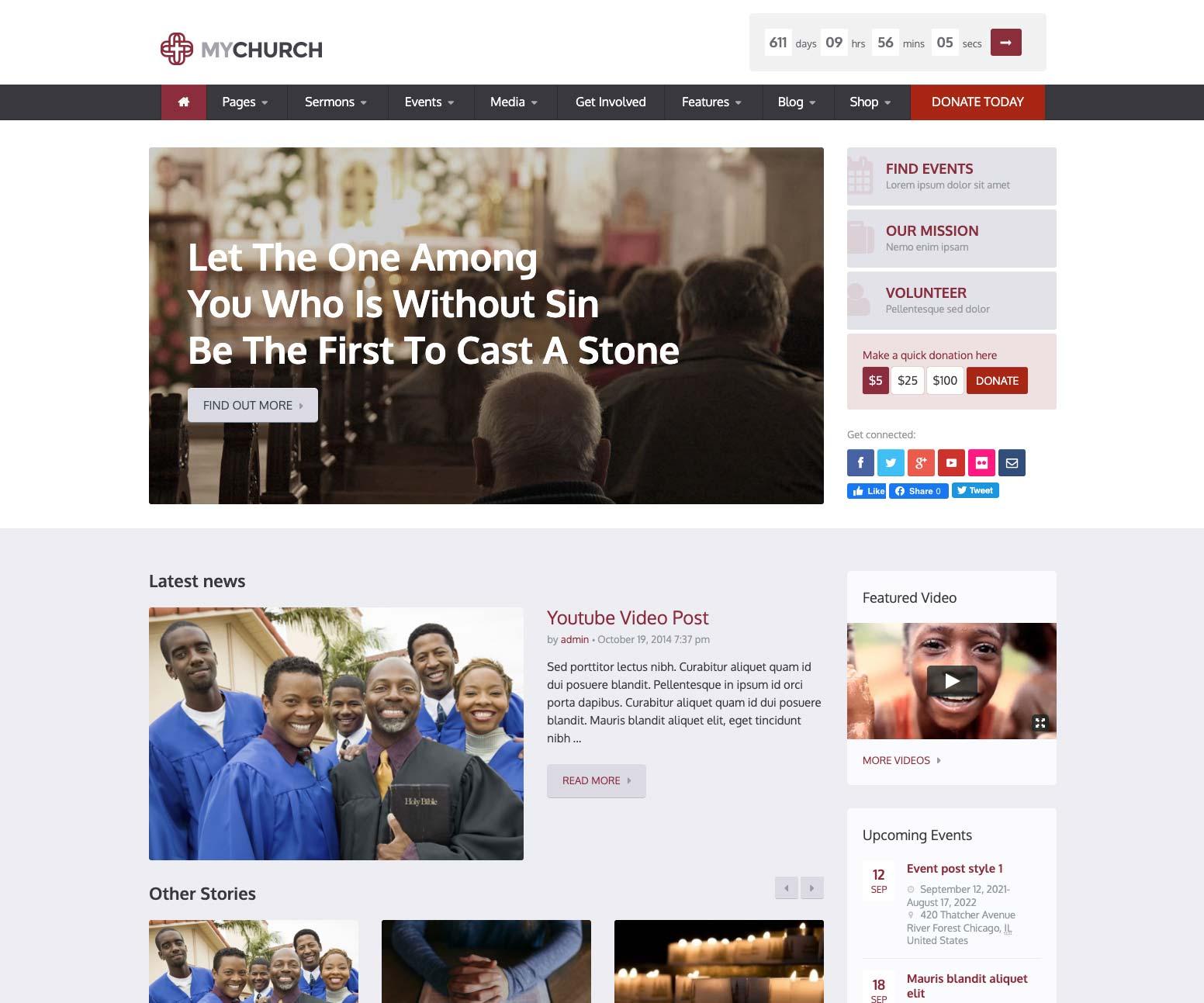 Candidate Church WordPress Theme