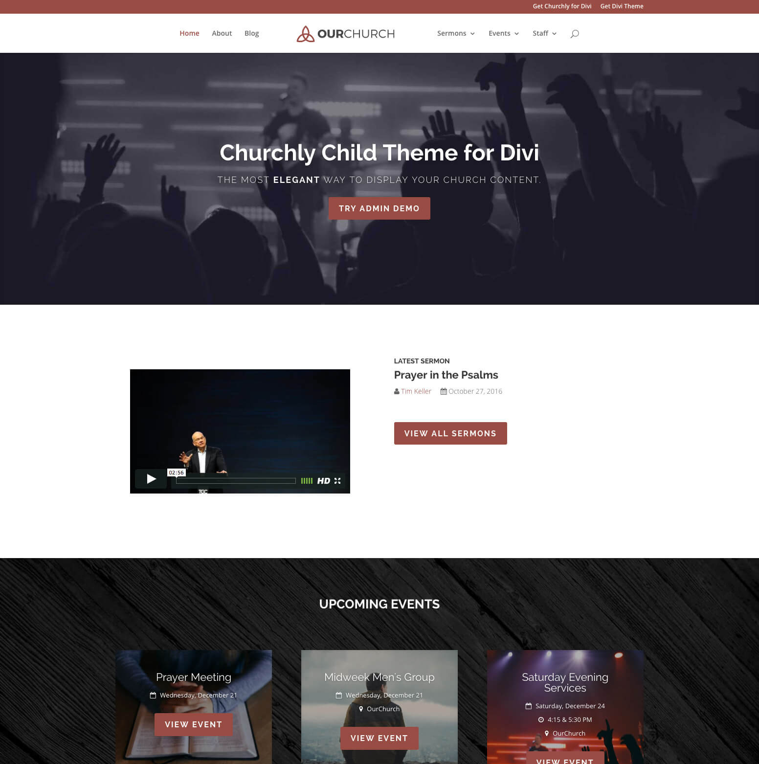 Churchly Divi Child Theme