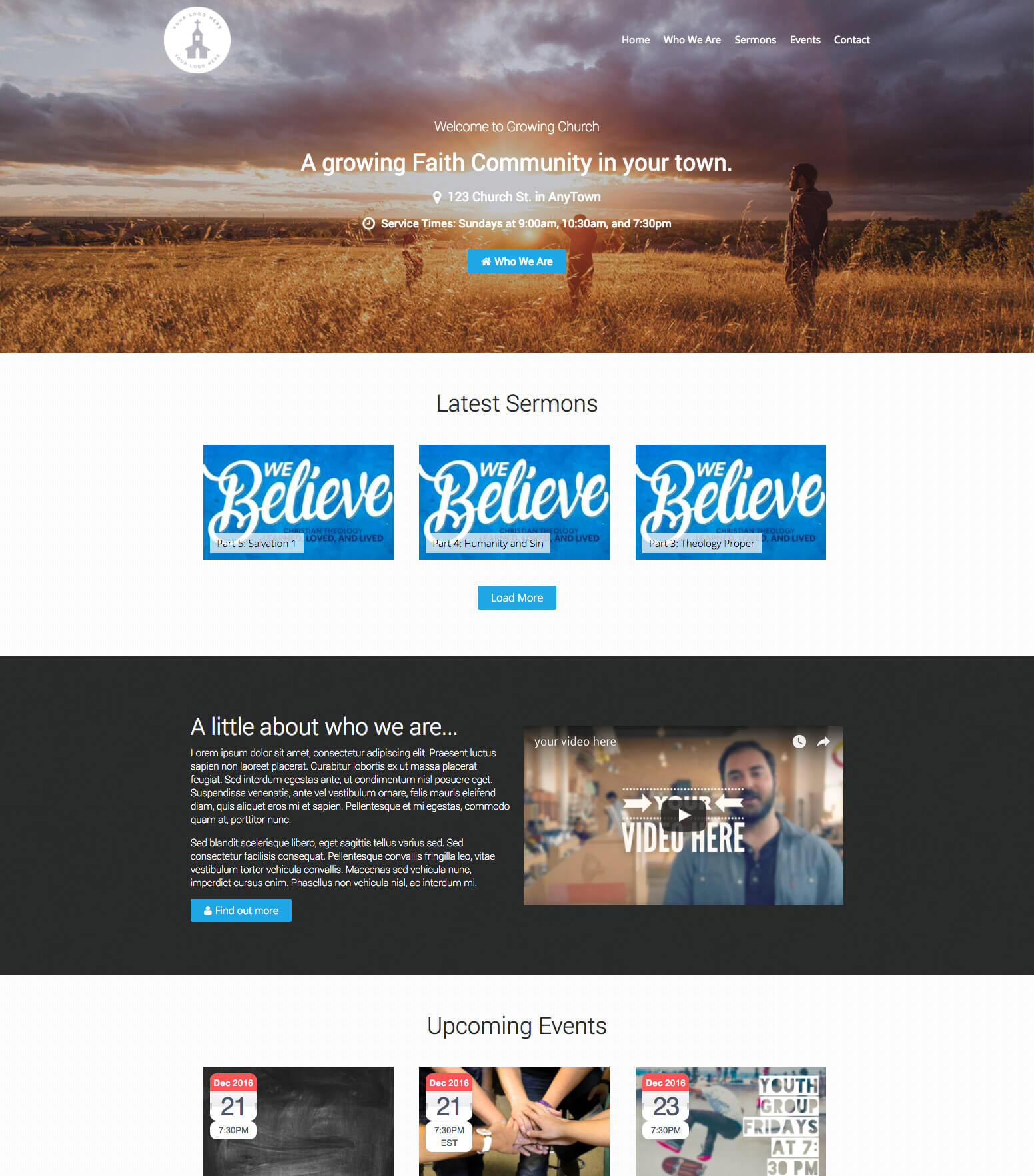 Growing Church WordPress Theme and Plugin Bundle