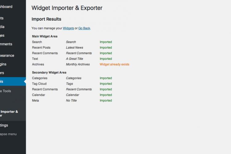Widget Importer & Exporter WordPress Plugin