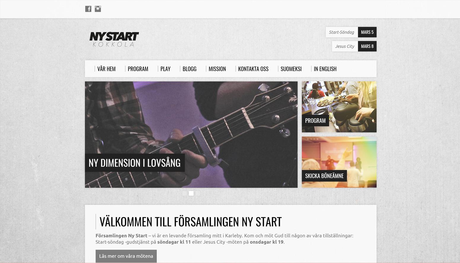Ny Start - Church Website