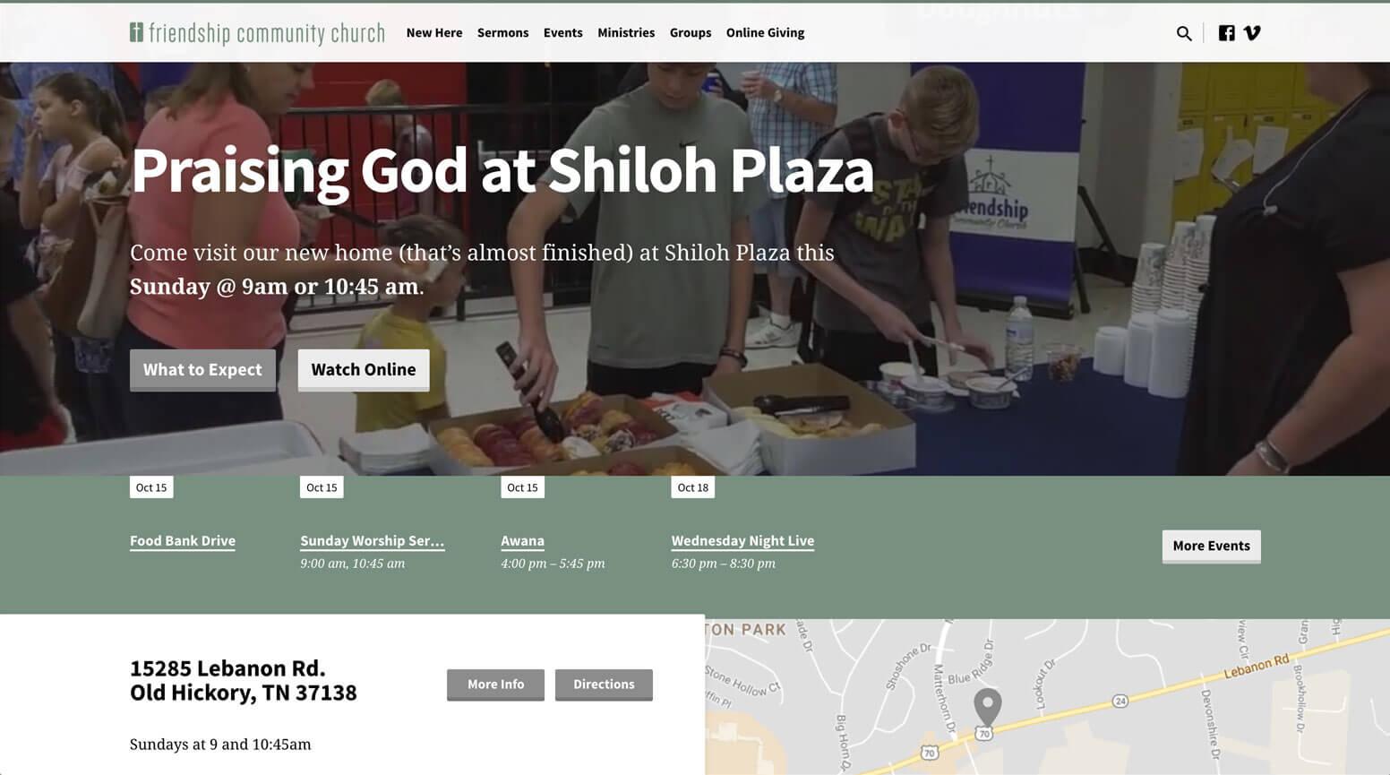 Shiloh Community Church Website