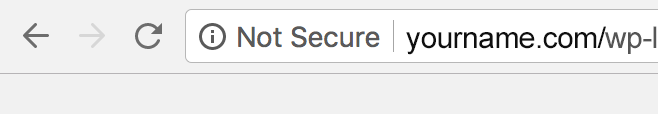 HTTPS Not Secure WordPress Login