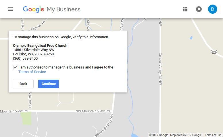 Google Authorization - Google My Business