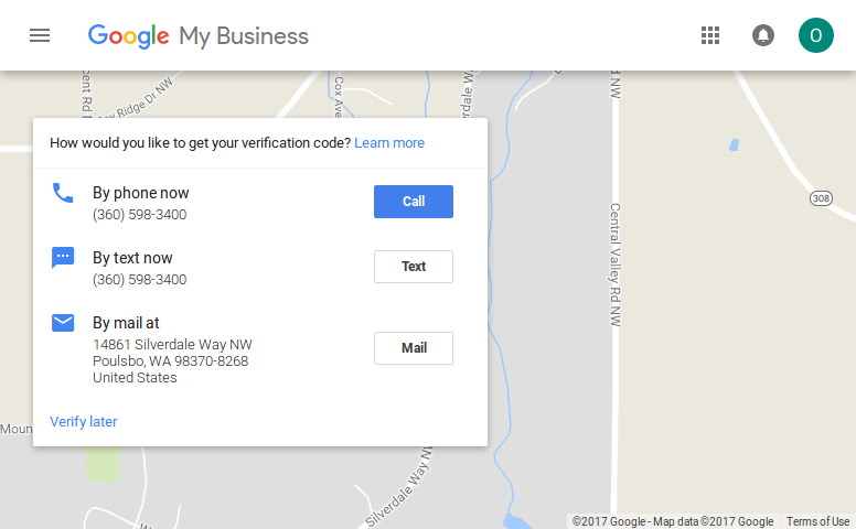 Google My Business Verification Options