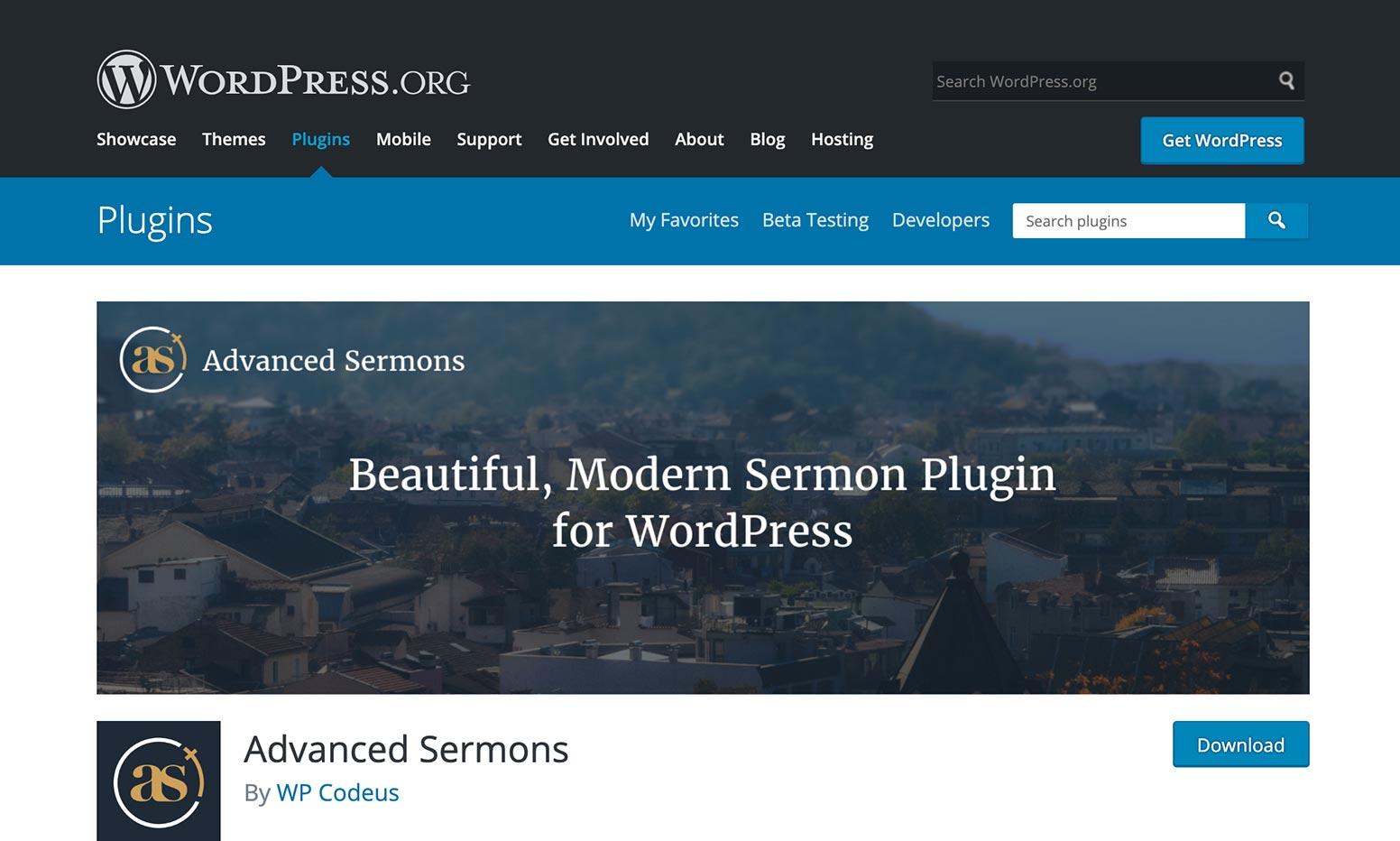 Advanced Sermons WordPress Plugin